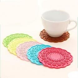Cheap Circular Flower Shape Mat, Silica Gel  4