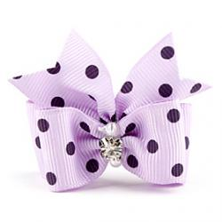 Cheap Colorful Spot Tiny Rubber Band Hair Bow for Dogs Cats(Assorted Color)