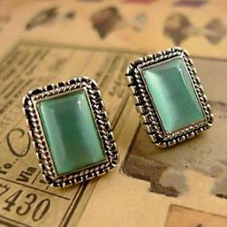 Low Price on Fake Gemstone Opal Earrings Clip Earrings Non Pierced Ear Clip Earrings Temperament E29