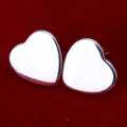Cheap Hot Sale!Free Shipping 925 Silver Earring,Fashion Sterling Silver Jewelry,Heart Tag Earrings SMTE010