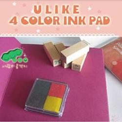 Cheap 4cm x 4cm Four Colors DIY Scrapbooking Craft Ink Pad