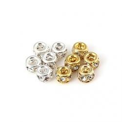 Cheap Diamond And Metallic Interval Beads (1pc)