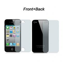 Cheap Front and Back Clear Screen Protector Full Body with Cleaning Cloth for iPhone 4/4S