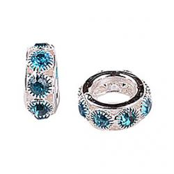 Low Price on Blue Rhinestone DIY Beads for Bracelet  Necklace