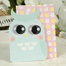 Cheap Night Owl Design Side Fold Greeting Card for Mother's Day