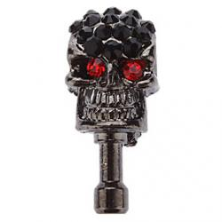 Cheap Cool Stylish Skull Head Shaped Dustproof Plug for Cell Phone