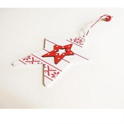 Cheap Christmas Decoratives Double Five-Pointed Star Shape 1 PC MDF Materiels