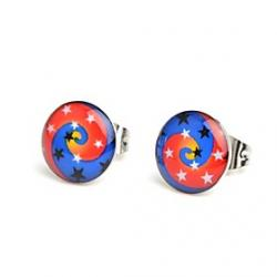 Cheap Fashion Spiral Stars Stainless Steel Stud Earrings