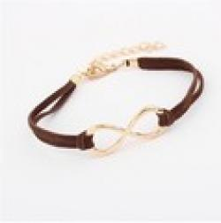 Cheap Fashion Infinity bracelet Eight cross bracelet bangle jewelry!+FREE SHIPPING# 96317#D91