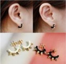 ES378  Hot 2014 Jewelry Christmas Gift U-type Stud Earrings Fashion Punk Rivet Wholesales Jewelry Sale