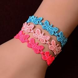 Low Price on European Fashion Sweet Lace Butterfly  Bracelet(1PC)(Assorted Colors)