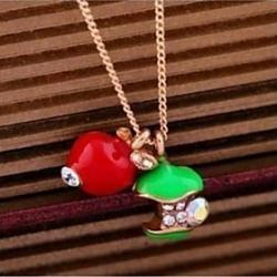 Cheap Apple Short Pendant Necklace Sweater Chain