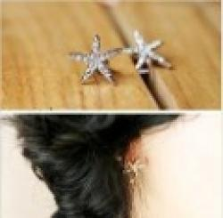 Cheap Minimal mix styles $5 Free Shipping New Promotion Rhinestone Star Stud Earring For Women C1R13C