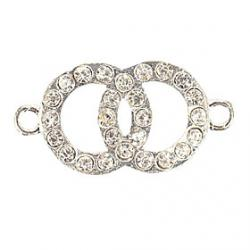 Low Price on Rhinestone Double Circle DIY Charms Pendants for Bracelet  Necklace