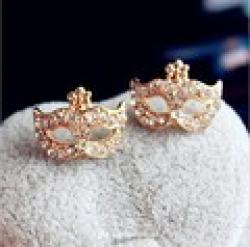 Cheap LZ Jewelry Hut E93 The 2014  Wholesale Bohemia Mask Rhinestone Womans Earrings