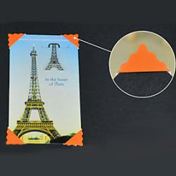 Cheap Pure Orange Cartoon DIY Photo Corner Protector Sticker(78 Stickers/PCS)