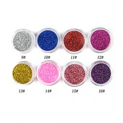 Cheap 1PCS Laser Glitter Acrylic Powder For 3D Nail Art(Assorted Color,No.9-16)