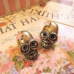 Low Price on Skull Personality To Do The Old Retro Flower Earrings Earrings Wholesale E692