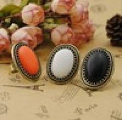 Cheap 2014 New Fashion Jewelry European Style Personalized Fashion Vintage Oval Gem Retro Ring R635 R636 R643