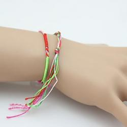 Low Price on Color Rope to Ward Bad Luck and Hand-woven Bracelet (Random Color)