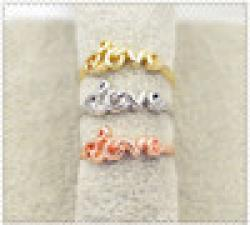 Cheap New fashion jewelry love letter finger ring  for women ladie's R755