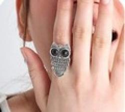 Cheap Free Shipping!European and American fashion retro boutique owl ringC29
