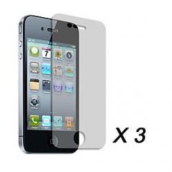 Cheap Clear Screen Protector Film for Apple iPhone 4 (3 pcs)