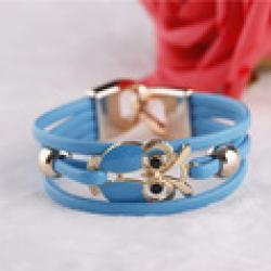 Cheap 2013 new European and American Fashion Owl Beaded Leather Bracelet#1844