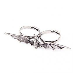 Low Price on Europe And Selling Jewelry Punk Style Retro Bat Ring Ring