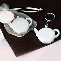 Cheap Love is Brewing' Teapot Tape Measure Keychain