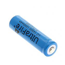 Cheap UltraFire 14500 1200mAh 3.7V Rechargeable Li-ion Battery - Blue (1 PCS)