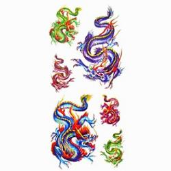 Cheap 1pc Flying Dragon Waterproof Tattoo Sample Mold Temporary Tattoos Sticker for Body Art(18.5cm8.5cm)