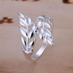 Cheap R119 Wholesale 925 silver ring, 925 silver fashion jewelry, Leather Ring yrsn