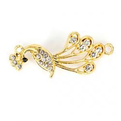 Cheap Rhinestone Peacock DIY Charms Pendants for Bracelet  Necklace