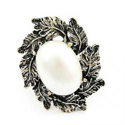 Cheap Korean Version Of The New 2013 Vintage Fashion Pearl Leaf Ring