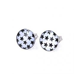 Low Price on Little Black Stars Stainless Steel Stud Earrings