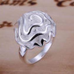 Cheap R005 Wholesale 925 silver ring, 925 silver fashion jewelry, Rose Ring caqz