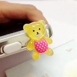 Cheap Toophone JOYLAND 3.5mm Little Bear Anti-dust Plug for iPhone and Samsung (Random Color)
