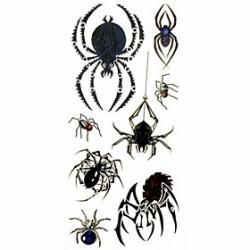 Cheap 1pc Animal Spider Style Waterproof Tattoo Sample Mold Temporary Tattoos Sticker for Body Art(18.5cm8.5cm)