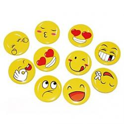 Cheap 4cm Yellow Funny Expression Badge (Random Pattern)