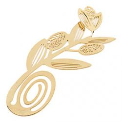 Low Price on Elegant Golden Flower Style Bookmark