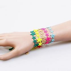 Low Price on European Fashion Sweet Lace Pentagram  Friendship Bracelets(1PC)(Assorted Colors)