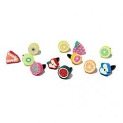 Cheap Fruit 3.5 MM Polymer Clay Anti-dust Earphone Jack for iPhone and iPad(Random Color)