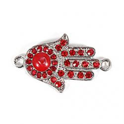 Cheap Alloy Red Hand DIY Charms Pendants for Bracelet  Necklace