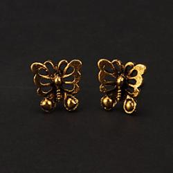 Low Price on Fashion Bronze Butterfly Shape Stud Earring(1 Pair)