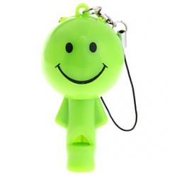 Cheap Lovely Doll LED Keychain Flashlight with whistle (Random Color)