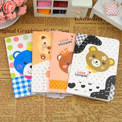 Cheap Cartoon Bear Series Small Notebook(Random Color)