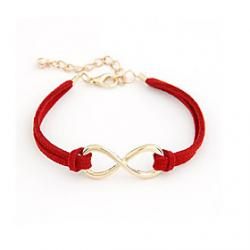 Cheap Alloy Infinity Charm Bracelet with Adjustable Size