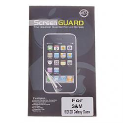 Cheap Professional Clear Anti-Glare LCD Screen Guard Protector for Samsung Galaxy Duos I8262D