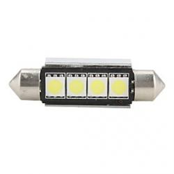 Cheap 42mm 4 SMD LED White Light Bulb
